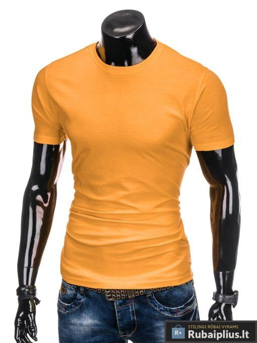 Vyriski vienspalviai tamsiai geltoni marškinėliai vyrams internetu pigiau S884TG kairė