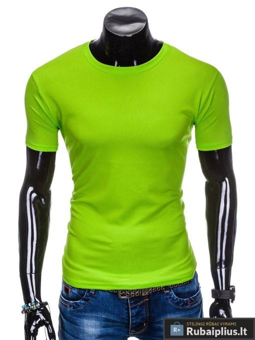 Vyriski sportiniai žali vienspalviai marškinėliai vyrams internetu pigiau S883Z priekis