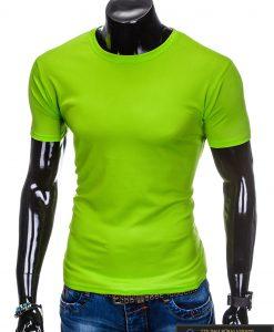 Vyriski sportiniai žali vienspalviai marškinėliai vyrams internetu pigiau S883Z kairė