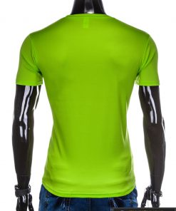 Vyriski sportiniai žali vienspalviai marškinėliai vyrams internetu pigiau S883Z nugara