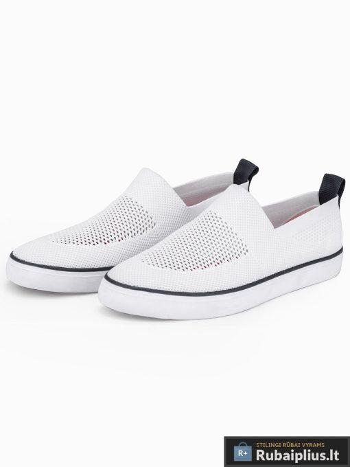 Vyriski balti laisvalaikio batai vyrams su tinkleliu internetu pigiau T308B pora