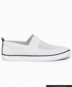 Vyriski balti laisvalaikio batai vyrams su tinkleliu internetu pigiau T308B vienas