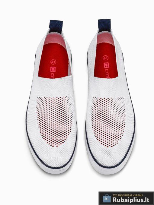 Vyriski balti laisvalaikio batai vyrams su tinkleliu internetu pigiau T308B viršus