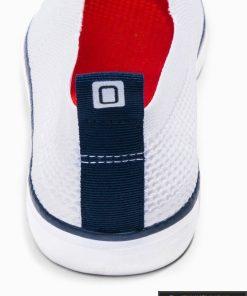Vyriski balti laisvalaikio batai vyrams su tinkleliu internetu pigiau T308B kulnas