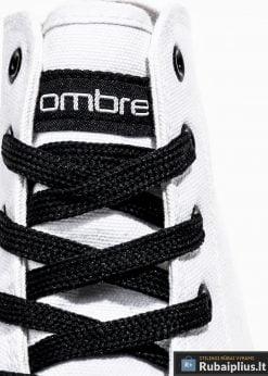Stilingi vyriski balti paaukštinti laisvalaikio batai vyrams internetu pigiau T304B raišteliai