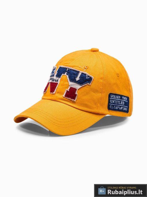 Beisbolo geltona vyriška kepurė su snapeliu vyrams internetu pigiau H031