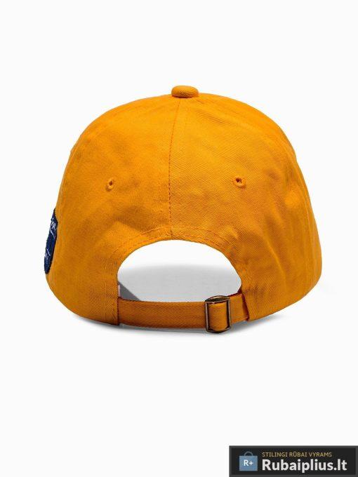 Beisbolo geltona vyriška kepurė su snapeliu vyrams internetu pigiau H031 iš galo
