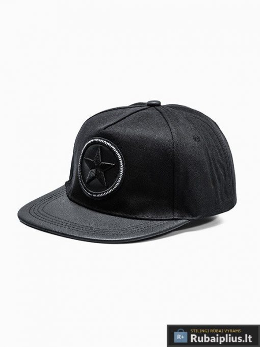 Beisbolo juoda vyriška kepurė su plokščiu snapeliu vyrams internetu pigiau H033