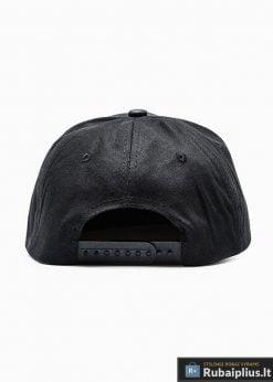 Beisbolo juoda vyriška kepurė su plokščiu snapeliu vyrams internetu pigiau H033 iš galo