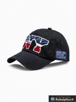 Beisbolo juoda vyriška kepurė su snapeliu vyrams internetu pigiau H031