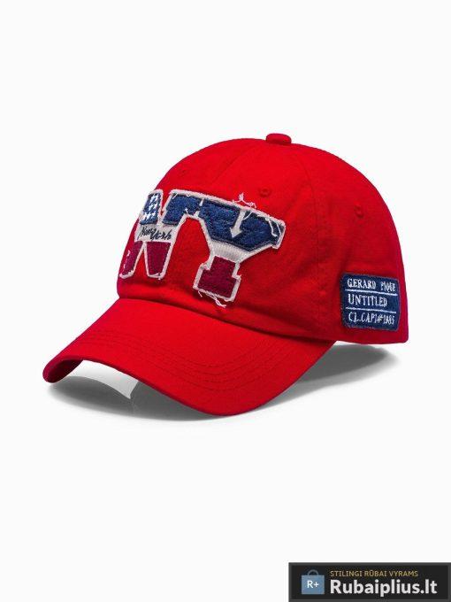Beisbolo raudona vyriška kepurė su snapeliu vyrams internetu pigiau H031
