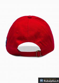 Beisbolo raudona vyriška kepurė su snapeliu vyrams internetu pigiau H031 iš galo