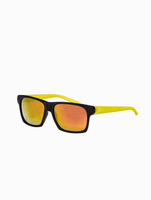 Madingi geltoni vyriški akiniai vyrams internetu pigiau A168G rėmelis