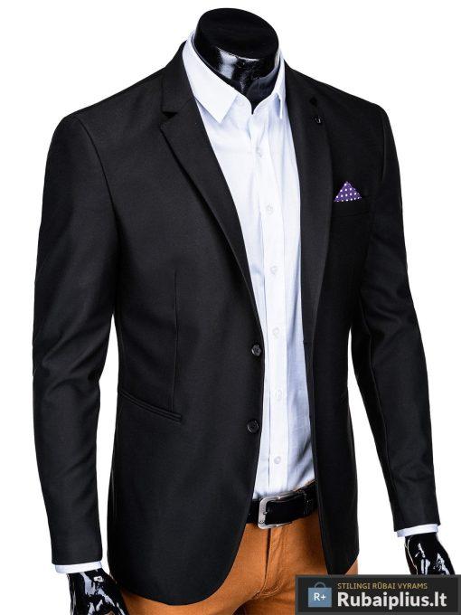 Klasikinis juodas vyriškas švarkas su nosinaite vyrams internetu pigiau M149J dešinė
