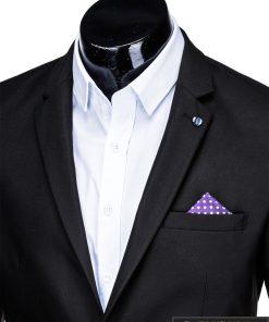 Klasikinis juodas vyriškas švarkas su nosinaite vyrams internetu pigiau M149J apykaklė