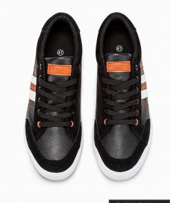 Vyriski juodi laisvalaikio batai vyrams internetu pigiau T306J vyršus