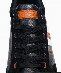 Vyriski juodi laisvalaikio batai vyrams internetu pigiau T306J raišteliai