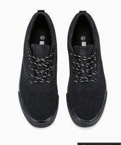 Vyriski sportbačiai juodi laisvalaikio batai vyrams internetu pigiau T303J viršus