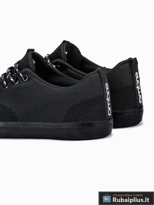 Vyriski sportbačiai juodi laisvalaikio batai vyrams internetu pigiau T303J pora kulnas