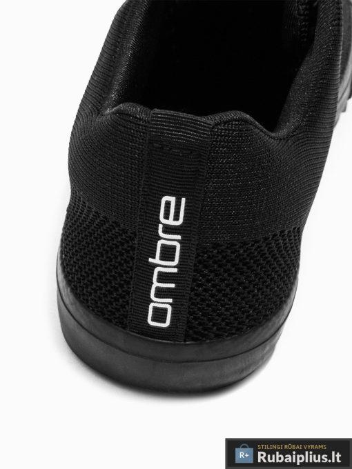 Vyriski sportbačiai juodi laisvalaikio batai vyrams internetu pigiau T303J kulnas