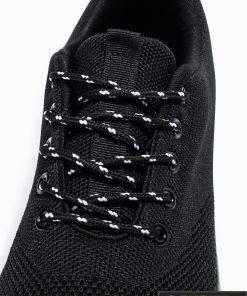 Vyriski sportbačiai juodi laisvalaikio batai vyrams internetu pigiau T303J raišteliai