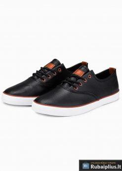 Stilingi vyriski juodi laisvalaikio batai vyrams internetu pigiau T305J pora