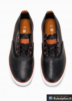 Stilingi vyriski juodi laisvalaikio batai vyrams internetu pigiau T305J viršus