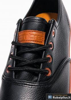 Stilingi vyriski juodi laisvalaikio batai vyrams internetu pigiau T305J raišteliai