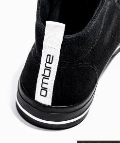 Vyriski sportbačiai juodi laisvalaikio batai vyrams internetu pigiau T304J kulnas