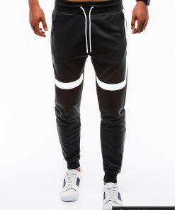 Vyriskos juodos sportinės kelnės vyrams treningai paaugliams internetu pigiau P737J priekis