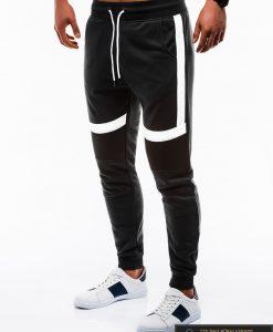Vyriskos juodos sportinės kelnės vyrams treningai paaugliams internetu pigiau P737J kairė