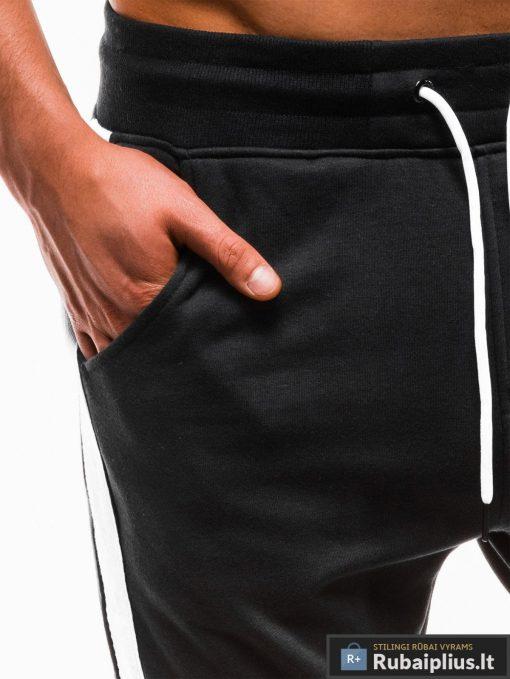 Vyriskos juodos sportinės kelnės vyrams treningai paaugliams internetu pigiau P737J kišenė