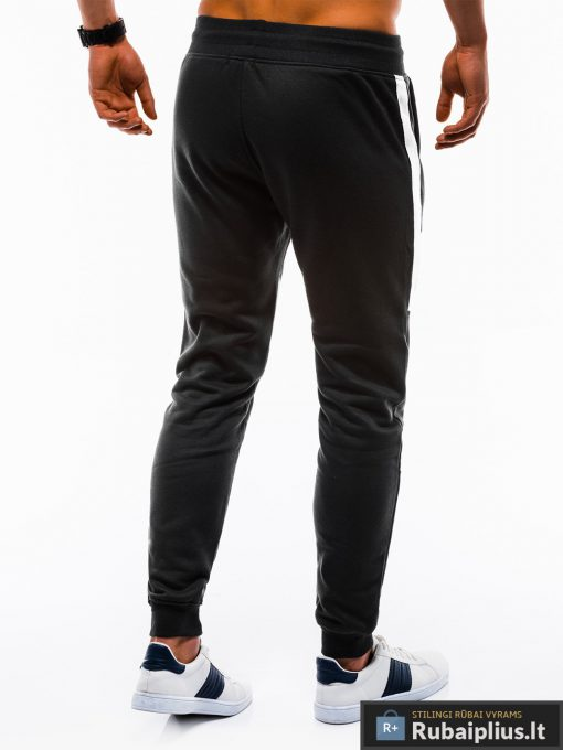 Vyriskos juodos sportinės kelnės vyrams treningai paaugliams internetu pigiau P737J nugara