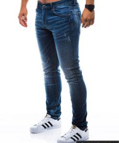 Vyriski klasikiniai tamsiai mėlyni džinsai vyrams internetu pigiau P785TM kairė