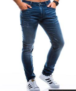 Vyriski klasikiniai tamsiai mėlyni džinsai vyrams internetu pigiau P785TM dešinė