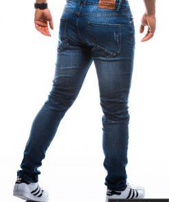 Vyriski klasikiniai tamsiai mėlyni džinsai vyrams internetu pigiau P785TM nugara