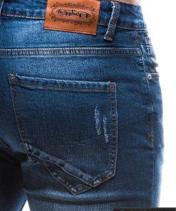 Vyriski klasikiniai tamsiai mėlyni džinsai vyrams internetu pigiau P785TM kišenė