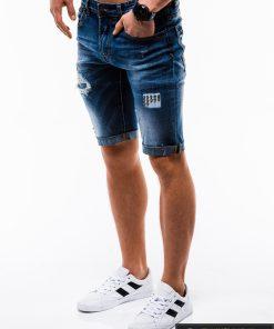 Vyriski mėlyni džinsiniai šortai vyrams internetu pigiau W124JEANS kairė