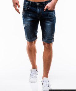 Vyriski mėlyni džinsiniai šortai vyrams internetu pigiau W123JEANS priekis