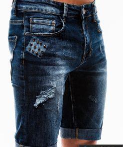 Vyriski mėlyni džinsiniai šortai vyrams internetu pigiau W123JEANS priekis kišenė