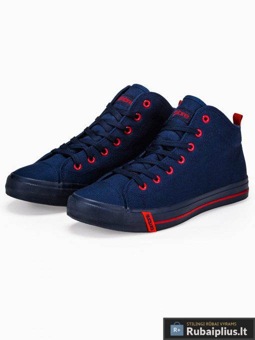 Stilingi vyriski paaukštinti tamsiai mėlyni laisvalaikio batai vyrams internetu pigiau T304TM pora