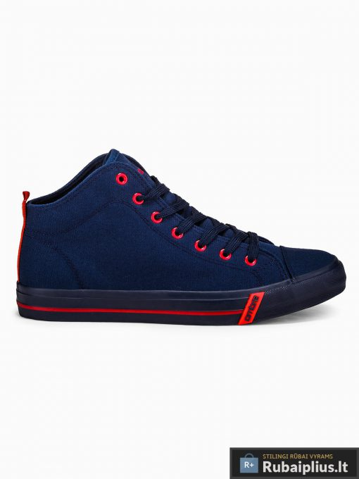 Stilingi vyriski paaukštinti tamsiai mėlyni laisvalaikio batai vyrams internetu pigiau T304TM vienas