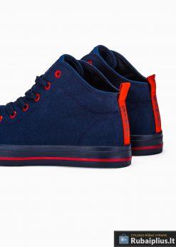 Stilingi vyriski paaukštinti tamsiai mėlyni laisvalaikio batai vyrams internetu pigiau T304TM iš galo