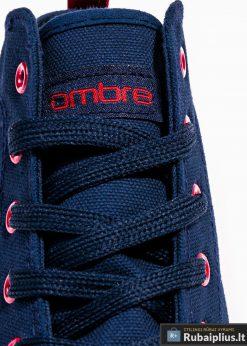Stilingi vyriski paaukštinti tamsiai mėlyni laisvalaikio batai vyrams internetu pigiau T304TM raišteliai