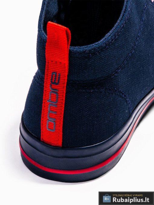 Stilingi vyriski paaukštinti tamsiai mėlyni laisvalaikio batai vyrams internetu pigiau T304TM kulnas