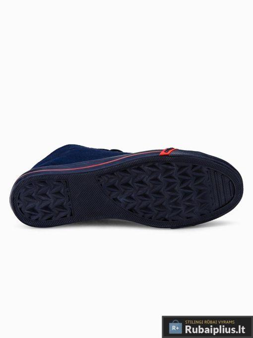 Stilingi vyriski paaukštinti tamsiai mėlyni laisvalaikio batai vyrams internetu pigiau T304TM padas