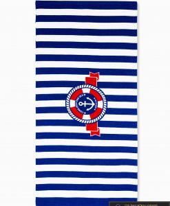 Tamsiai mėlynas paplūdimio rankšluostis Indo A196