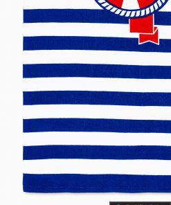 Tamsiai mėlynas paplūdimio rankšluostis Indo A196 raštas