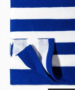 Tamsiai mėlynas paplūdimio rankšluostis Indo A196 kraštas