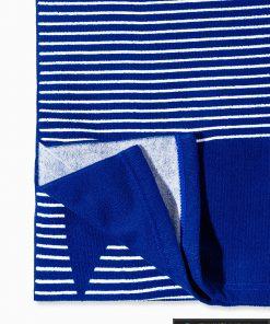 Tamsiai mėlynas paplūdimio rankšluostis larif A195 kraštas